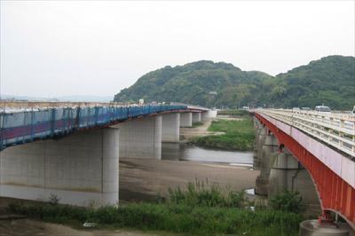 御幸橋の架け替え工事