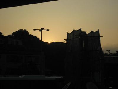 駅前の夕焼け