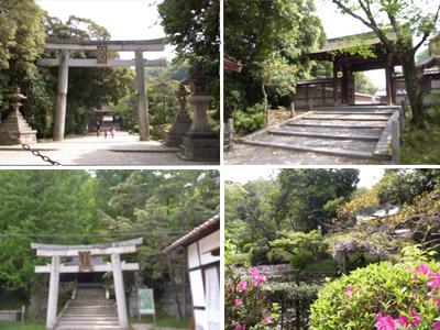 一の鳥居から高良神社へ