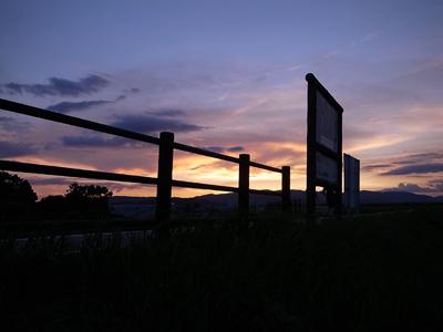 夕暮れの流れ橋