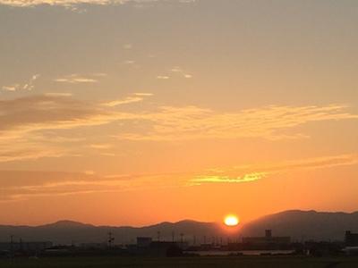 大谷川の日の出